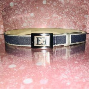 Escada blue denim / silver belt